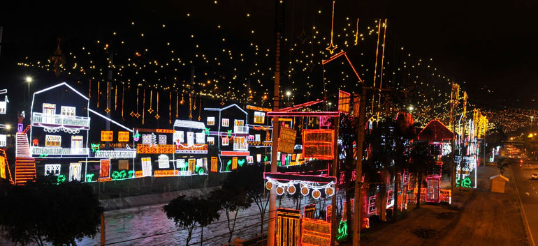 Top 5 cities to light up Colombia's Christmas