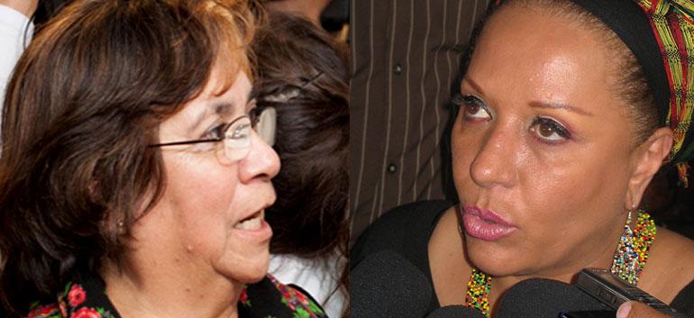 Aida Avella (L) and Piedad Cordoba (R)