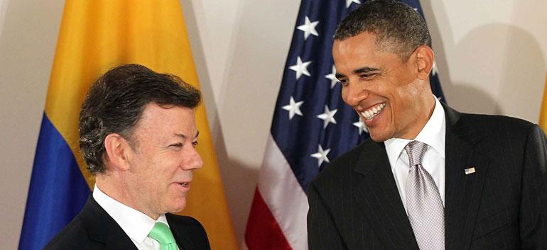 Juan Manuel Santos (L) and Barack Obama (Photo: White House)
