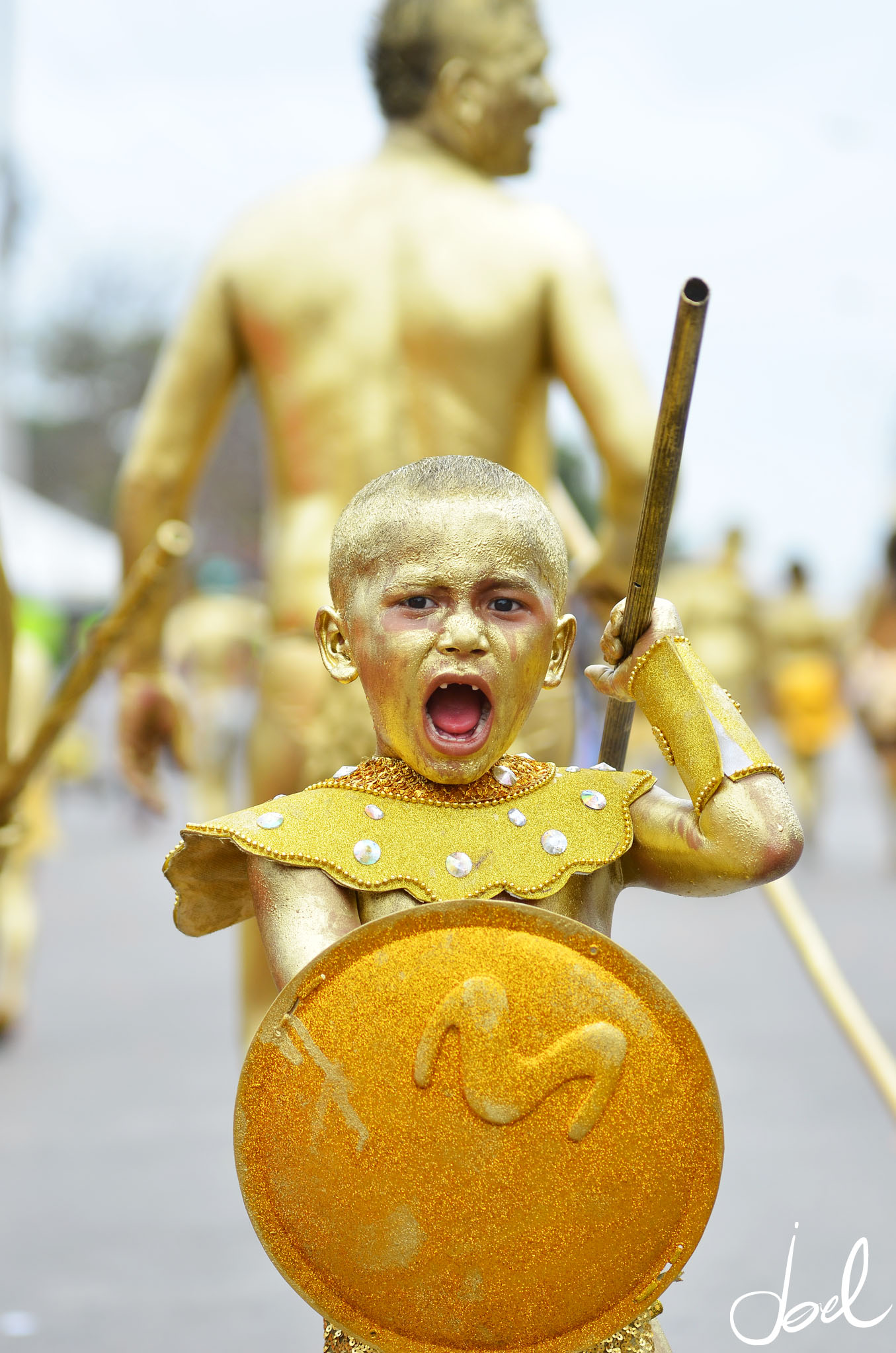 Child taking part in the Flower Parade (Photo: Joel Duncan)